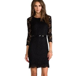 Juicy Couture Lace Dress in Pitch Black